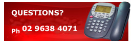 Questions? Call: (02) 9638 4071